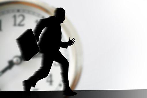 Stress, Businessmen, Businessman, Clock, Time, Burnout