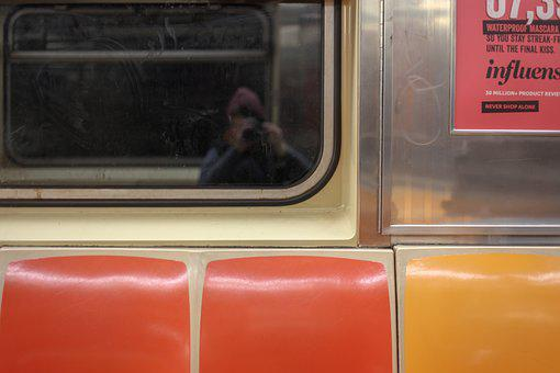 Subway, New York, Tube, Tourist, Nyc, Reflection