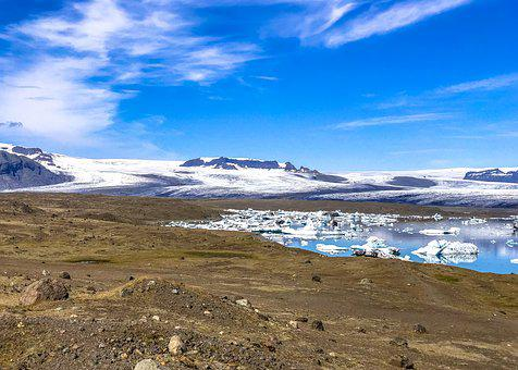 Iceland, The Glacier, Ice, Landscape, Cold, Water