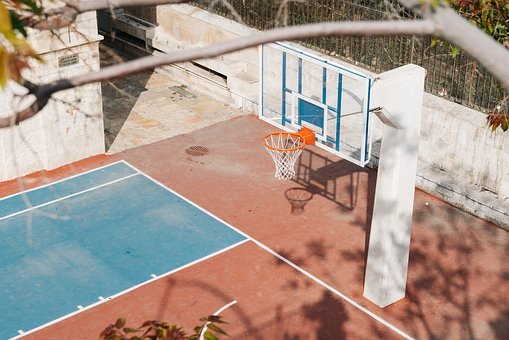Basketball Court, Basketball, Sports, Sport, Basket