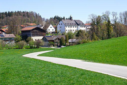 Road, Castle, Architecture, Old, Building, Houses, Barn