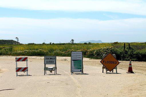 Road, Closed, California, Flooded, Border State Park