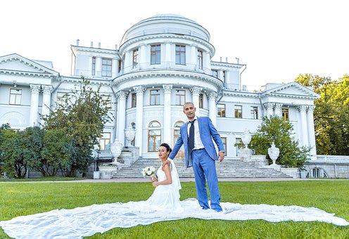 Palace, Theatre, Bride, The Groom, Dress, Fata, Bouquet