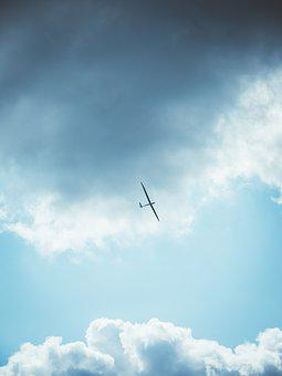 Glider, Aircraft, Sky, Clouds, Flying, Glider Pilot