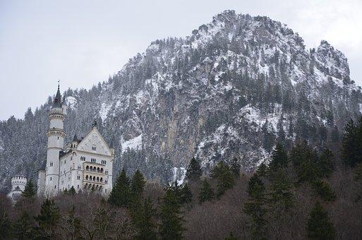 Castle Neuschwanstein, Germany, Castle, Bavaria