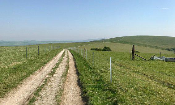 South Downs, Outdoors, Walking, Hiking, Summer, Hills