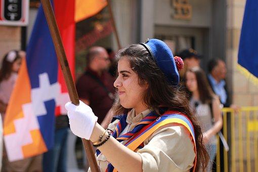 Parade, Girl, Scouts, Armenian, Jerusalem
