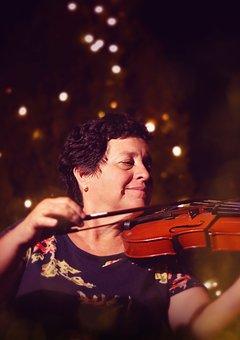 Musician, Violin, Lady, Bokeh, Music, Instrument
