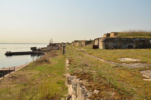 Island, Fort, Saint Petersburg, Spring, Water, Russia