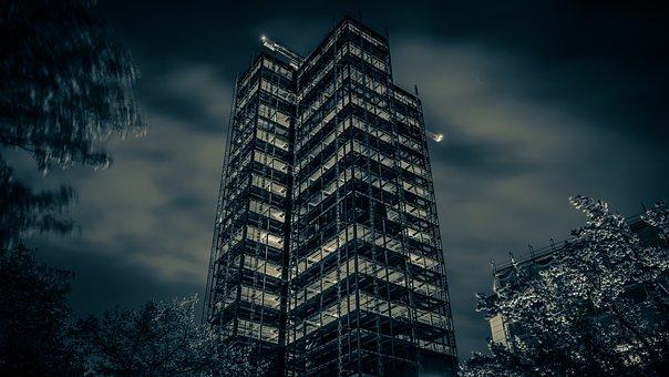 Black And White, Berlin, Skyscraper, Steglitzer Kreisel