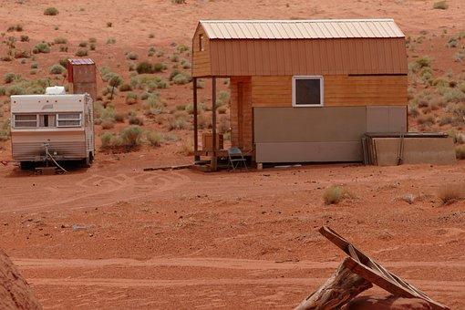 Tiny, House, Navajo, Monument-valley, Usa