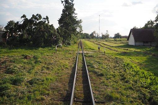 Tracks, Narrow-gauge Track, Railway, Train, Rails