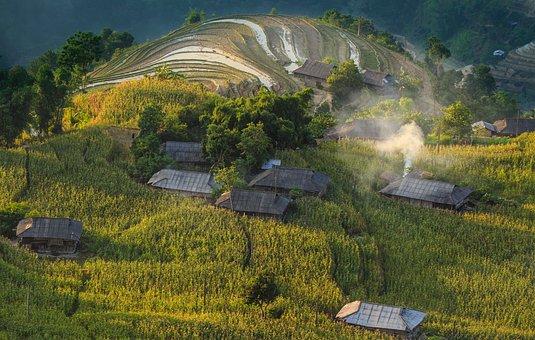 House, Mountain, Landscape, Travel, Trees
