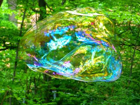 Soap Bubble, Fly, Weightless, Shimmer, Float, Airy