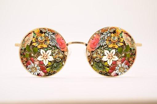 Sunglasses, Antique, Broach, Vintage, Glasses, Fashion