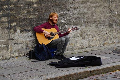 Street, Man, Playing, Musician, Artist, Singer, Urban