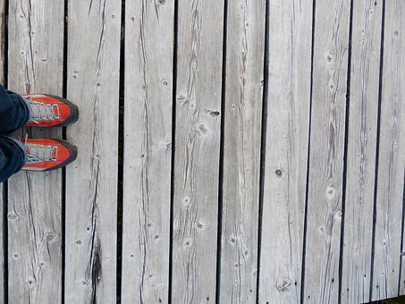 Away, Boards, Feet, Web, Trail, Wooden Track, Shoes