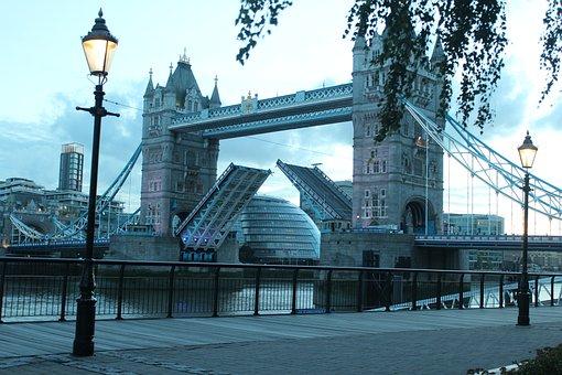 Tower Bridge, London, England, River Thames, Bridge