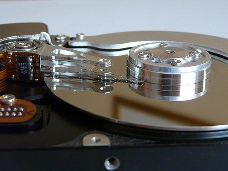 Hard Drive, Hardware, Harddisk, Harddisk Open, Close Up