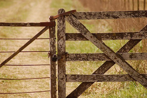 Country Life, Farm Gate, Countryside, Rustic, Rural