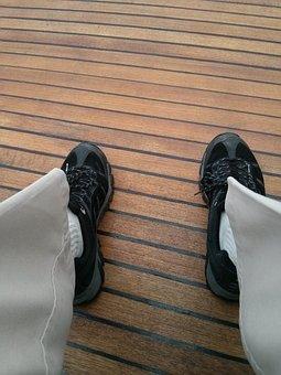 Boat Deck, Deck, Wood, Wooden, Decking, Shoes, Legs