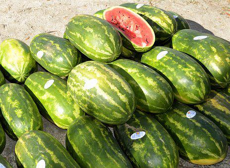 Water Melon, For Sale, Market, Food, Sweet, Fruit