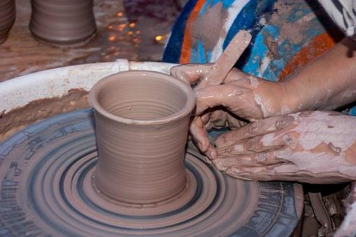 Clay, Potter, Wheel, Artist, Hand, Handmade, Work