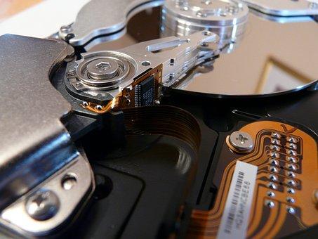 Hard Drive, Hardware, Harddisk, Harddisk Open, Close