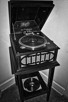Gramophone, Record Player, Old, Historic, Vintage