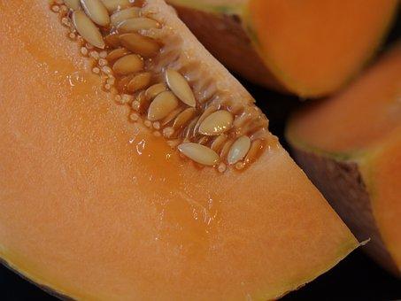 Melon, Cantaloupe, Orange Fruit