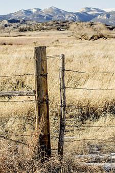 Fence Post, Barbed Wire, Gate, Ranch, Rustic, Montana