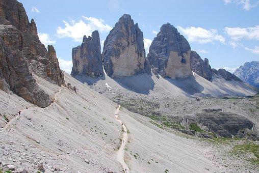 Three Peaks, Lavaredo, Mountain, Rock, Mountaineering