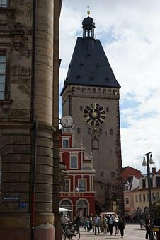 Speyer, Post Place, Old Gate, City Gate, Post, Old Town