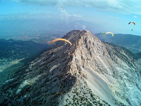 Mountain Range, Paragliding, Paraglider, Sport, Fly