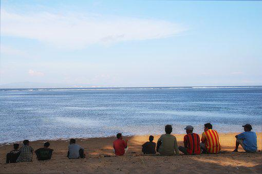 Bali, Portrait, Beach, People, Emotion, Glance, Staring