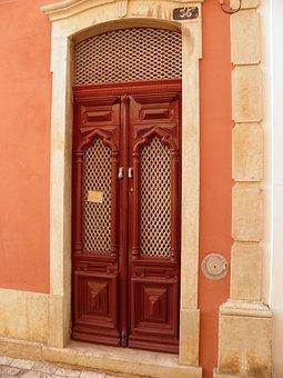 Door, Portugal, Loule, Old Door, Algarve, Architecture