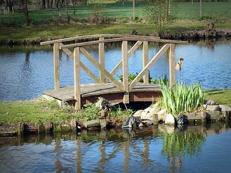 Web, Bridge, Garden Design, Small Bridge, Railing