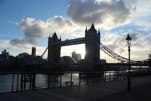 Tower Bridge, London, England, Sunset