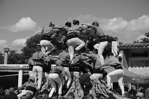 Castellers, Sport, Team, Union, Game, Inspiration