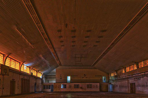 Lost Places, Building, Gym, Sports Hall, Abandoned, Old