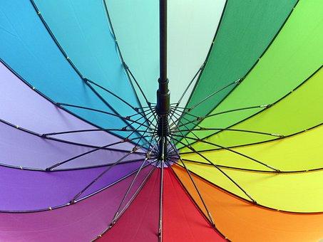 Umbrella, Colorful, Color, Joy, Screen, Abstract, Rain
