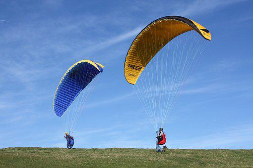 Paragliding, Paraglider, Air Sports Device, People