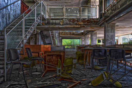 Lost Places, Restaurant, Building, Abandoned, Bar