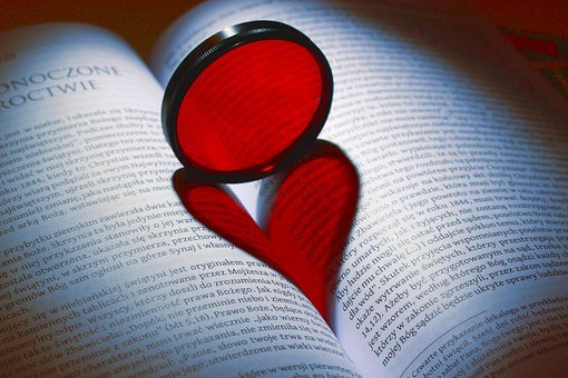 Heart, Book, Literature, Text, Romantic, Reading, Bible