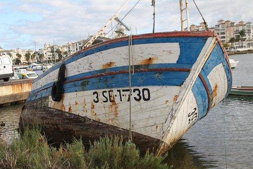 Boat, Desauciado, Puntadelmoral, Andalusia, Ayamonte