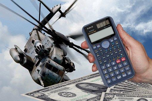 Cost, Calculator, Dollar, Money, Military Spending
