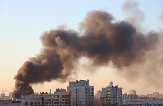 City, Fire, Smoke, Building, Destruction, Disaster, Sky
