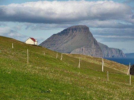 Faroe Islands, Koltur Island, Atlantic, Sea, Cliffs