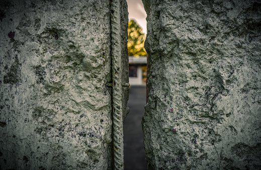 Berlin Wall, Iron, Metal, Concrete, Steel, Texture