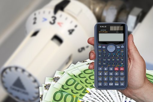 Cost, Calculator, Euro, Dollar, Money, Heating